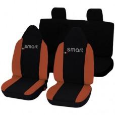 Coprisedili Smart ForFour bicolore nero arancione