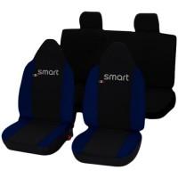 Coprisedili Smart ForFour bicolore nero blu scuro