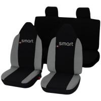 Coprisedili Smart ForFour bicolore nero grigio chiaro