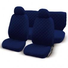 Coprisedili universali per auto trapuntato blu