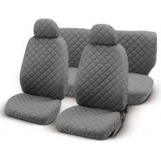 Coprisedili universali per auto trapuntato grigio chiaro
