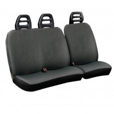 Coprisedili per furgone 3 posti cotone grigio - cintura bassa
