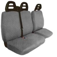 Coprisedili furgone 3 posti cintura alta - cotone trapuntato grigio