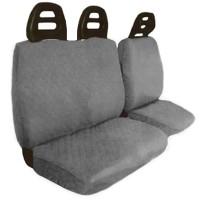 Coprisedili furgone 3 posti cintura bassa - cotone trapuntato grigio