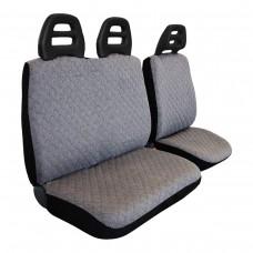 Coprisedili furgone 3 posti cintura bassa - cotone trapuntato grigio chiaro