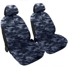 Coprisedili coppia anteriore trapuntato militare blu