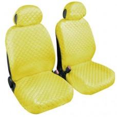 Coprisedili coppia anteriore trapuntato giallo