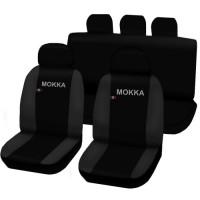 Coprisedili Opel Mokka bicolore nero - grigio scuro