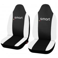 Coprisedili in ecopelle Smart fortwo - prima serie - bicolore nero - bianco