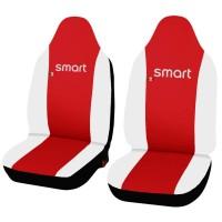 Coprisedili in ecopelle Smart fortwo - terza serie - bicolore rosso - bianco