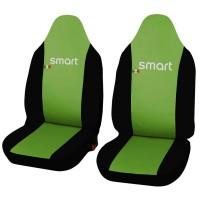 Coprisedili in ecopelle Smart fortwo - terza serie - bicolore verde chiaro - nero