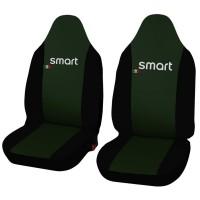 Coprisedili in ecopelle Smart fortwo - prima serie - bicolore verde scuro - nero