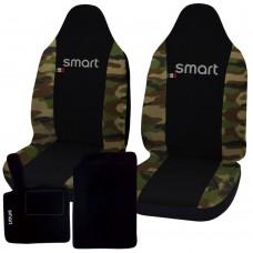 Coprisedili con tappetini in moquette Smart fortwo - seconda serie - bicolore nero mimetico classico