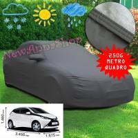Telo copriauto felpato specifico per Toyota Aygo dal 2005 al 2017 250 grammi a metro quadrato