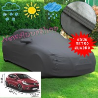 Telo copriauto felpato specifico per Renault Clio dal 2005 al 2017 250 grammi a metro quadrato