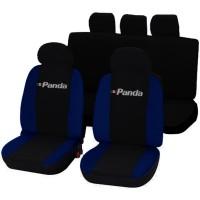 Coprisedili Fiat Panda nuova con logo bicolore nero - blu scuro