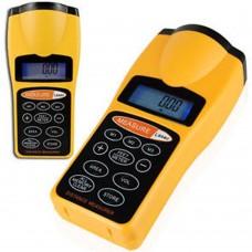 Misuratore di distanza misura metro feet ultrasuoni area puntatore laser