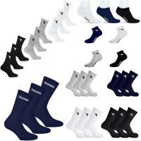 6 paia di Calzini Diadora Tennis Soccer Socks unisex con logo spugna cotone caldi vari numeri e colori