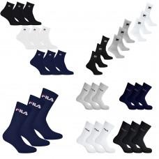 6 Calzini Fila Tennis Soccer Socks unisex con logo spugna cotone caldi vari numeri e colori