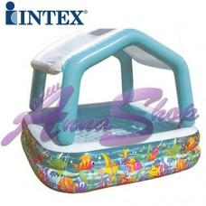 Piscina Intex gonfiabile con parasole 157x157x122cm