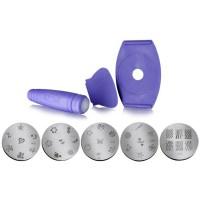 Kit unghie stamping nail art decora in poco tempo e in modo semplice e creativo NJ-07004