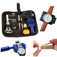 Kit ripara orologi e manutenzione orologio in comodo borsello da trasporto