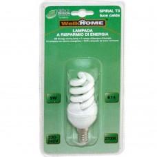 Lampadina a risparmio energetico E14 - luce calda - 9W