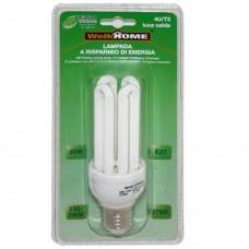 Lampadina a risparmio energetico E27 4 tubi - luce calda - 20W