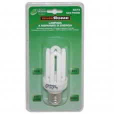 Lampadina a risparmio energetico E27 4 tubi - luce fredda - 15W
