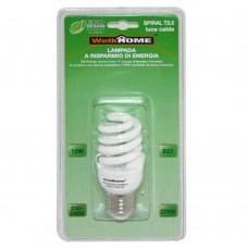 Lampadina a risparmio energetico E27 - luce calda - 12W