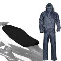Completo Tuta impermeabile giacca pantalone taglia XXL telo copri sella moto bici scooter