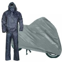Completo tuta impermeabile giacca pantalone taglia L telo copri moto bici scooter coprimoto