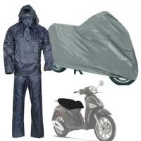 Completo tuta impermeabile giacca pantalone taglia L  + copri moto + coprisella scooter