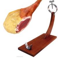 Porta prosciutto jambonero in legno 39x16x42 cm reggi prosciutto crudo