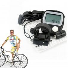 Computer da bici 14 funzioni velocità misura distanza cronometro orologio