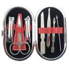 Kit manicure pedicure lima forbice tagliaunghie pinzette sopracciglie
