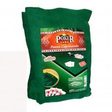 Copri tavolo panno verde poker con elastico 140x180cm copritavolo