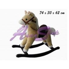Cavallo a dondolo chiaro con movimento bocca e suoni nistrito e galoppo