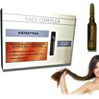 Trattamento anticaduta professionale in fiale alla Keratina Face Complex 991316