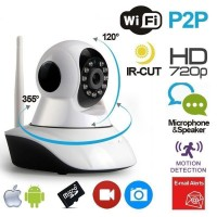 Videocamera 355° ip wifi videosorveglianza da remoto p2p hd