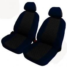 Coprisedili coppia anteriori per auto bicolore nero - blu scuro