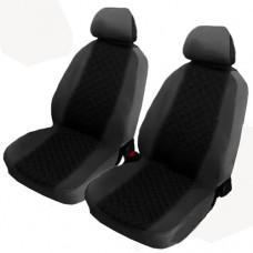 Coprisedili coppia anteriori per auto bicolore nero - grigio scuro