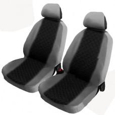 Coprisedili coppia anteriori per auto bicolore nero - grigio chiaro