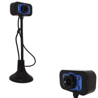 WEBCAM MULTIMEDIALE  4 LED CON ASTA MOBILE E MICROFONO MODELLO K2 USB HD 1080P 5171