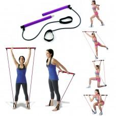 Attrezzo Fitness Barre con Elastico allungabile utile per fare Pilates