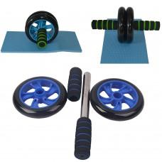 Attrezzo Fitness double Wheel per esercizio fisico 1609