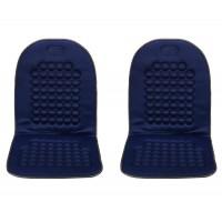 Coppia di Schienali per auto Schienale massaggiante con 92 sfere - blu