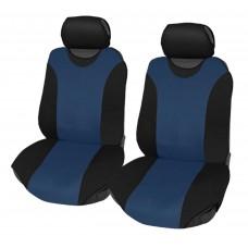 Coprisedili coppia anteriore universali in poliestere adattabili a tutte le auto con sedili standard - Modello R1 BLU