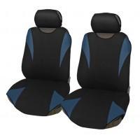 Coprisedili coppia anteriore universali in poliestere adattabili a tutte le auto con sedili standard - Modello R2 BLU