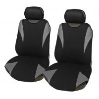 Coprisedili coppia anteriore universali in poliestere adattabili a tutte le auto con sedili standard - Modello R2 GRIGIO
